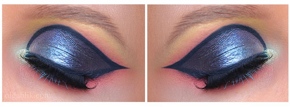 Как сделать макияж с синими тенями