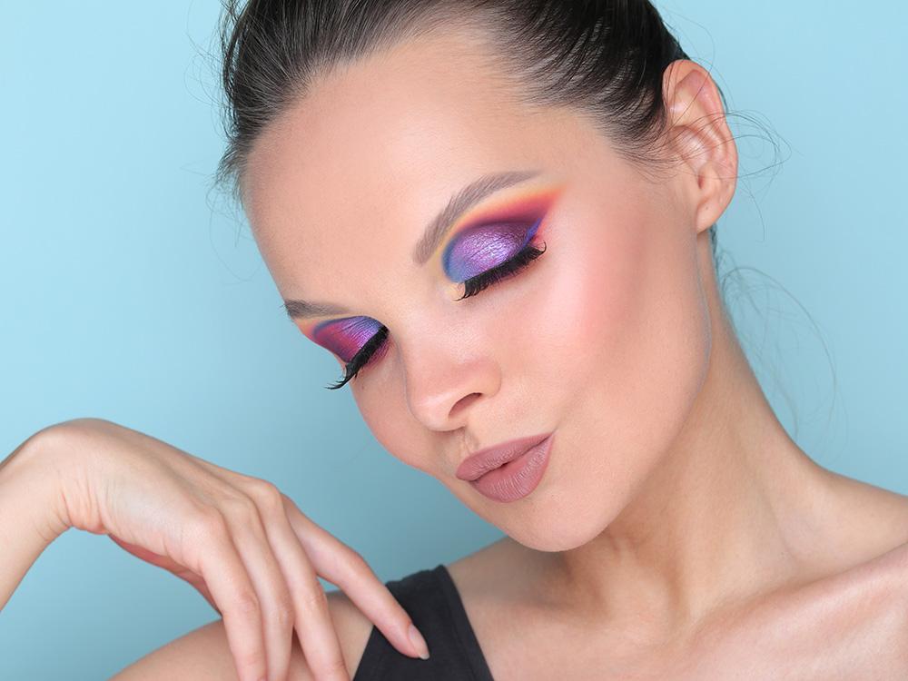 С чем сочетать фиолетовые тени