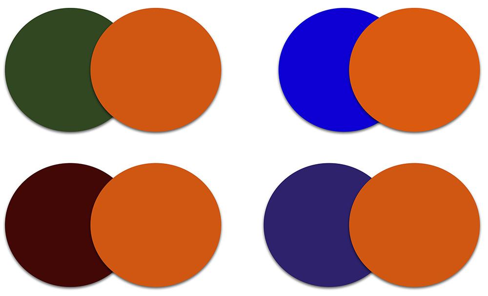 С чем сочетать оранжевые тени