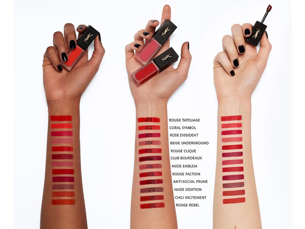 Yves Saint Laurent's Tatouage Couture Velvet Cream Liquid Lipstick