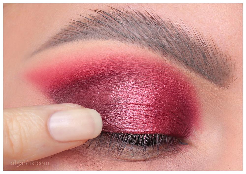 Как наносить красные тени