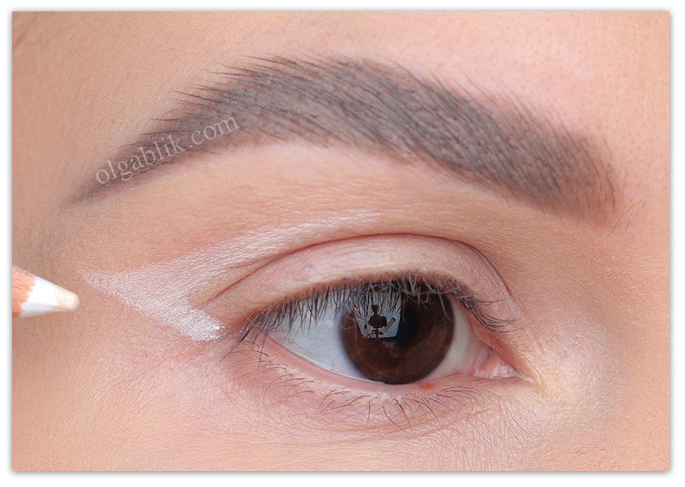 Как использовать белый карандаш для глаз