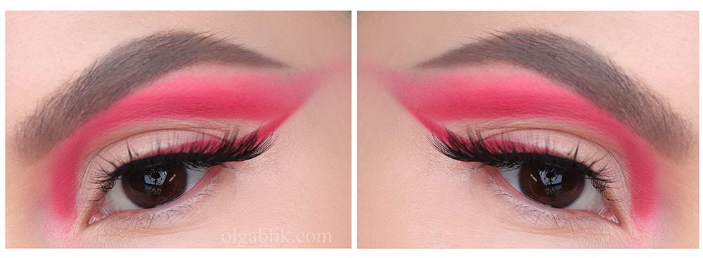 Макияж с розовыми стрелками