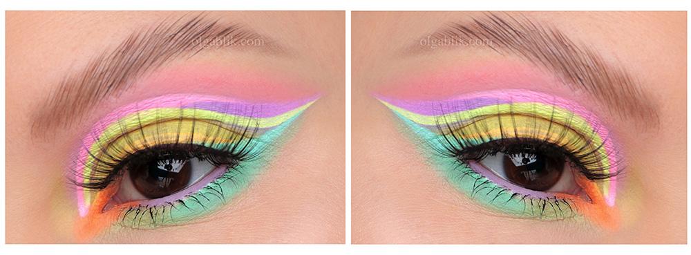 пастельные цвета в макияже глаз