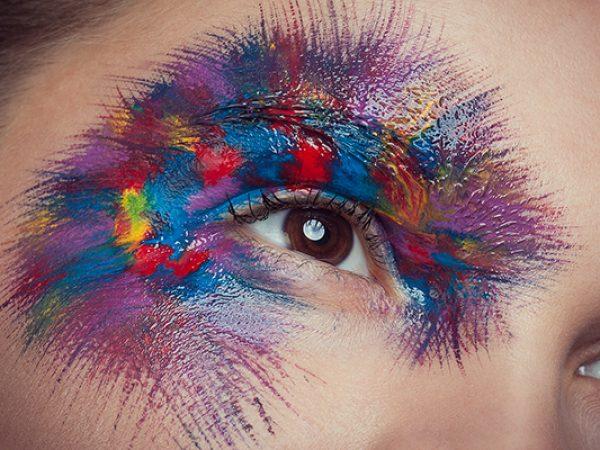 Креативный макияж глаза
