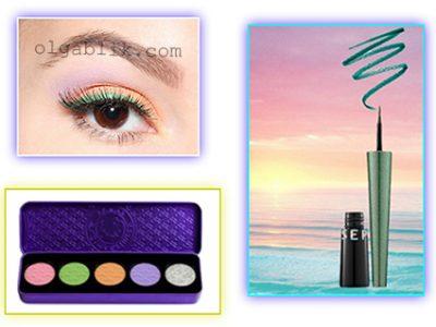 Пошаговый макияж для голубых глаз: летний образ