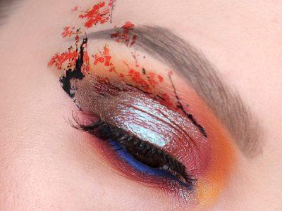 #7days_of_Flower_eye_makeup: японская сакура