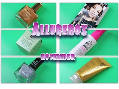Allurebox: ноябрь (2015). Отзывы. Фото. Состав.