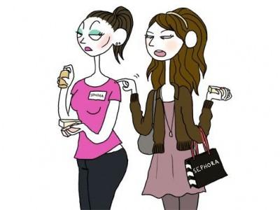 Консультанты в магазинах косметики: психология поведения