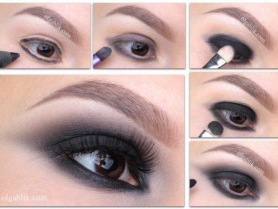 Черный макияж глаз пошагово: фото-инструкция