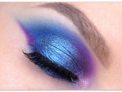 Макияж глаз в сине-фиолетовых тонах – фото-урок