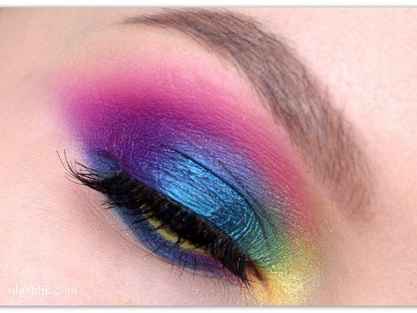 Как наносить цветные тени – пошаговый макияж глаз