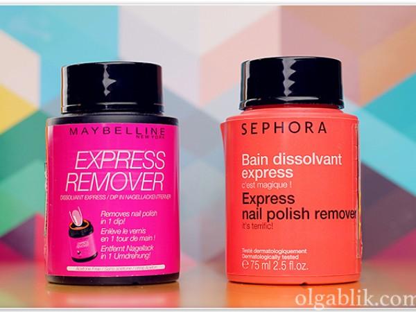 Жидкость для снятия лака Sephora против Maybelline – отзыв