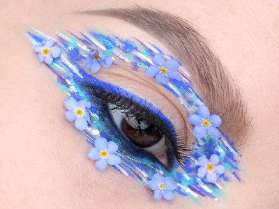 Летний макияж с цветами