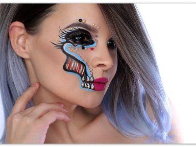 Glamour Skull Halloween Makeup