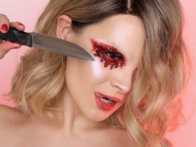 Макияж ножом: кровавые Смоки айс
