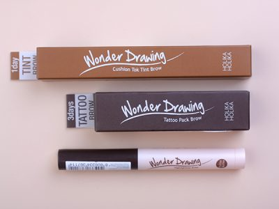 Тинт для бровей, Кушон и хайлайтер от Holika Holika Wonder Drawing