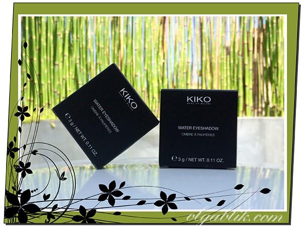 Тени для глаз: KIKO Water Eyeshadows #203 & #208