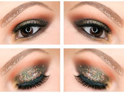 Как красить глаза блестками – пошаговый макияж