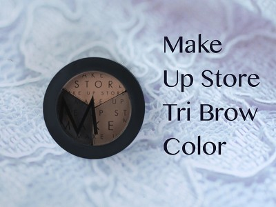 Тени для бровей Make Up Store Tri Brow Color – отзыв