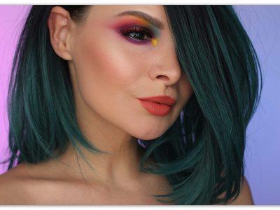 """Цветной макияж для карих глаз """"Во власти цвета"""""""