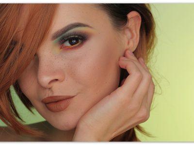 Макияж для карих глази рыжих волос: яркий образ