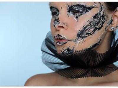 Необычный креативный макияж, как арт-объект