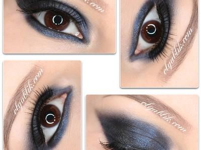 Синие тени в макияже глаз – пошаговый урок