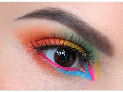 Особенности цветного макияжа глаз