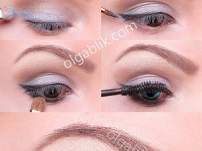 Дневной макияж для голубых глаз – пошагово фото-урок