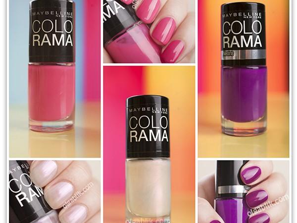 Лаки для ногтей Maybelline Colorama Nail Polish: 83, 186, 34.