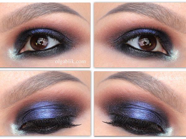Макияж глаз с синим акцентом – пошаговая фото-инструкция