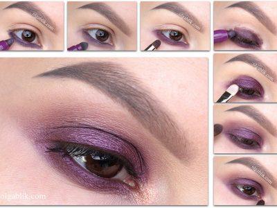 Как наносить сливовые тени для век – пошаговый урок макияжа
