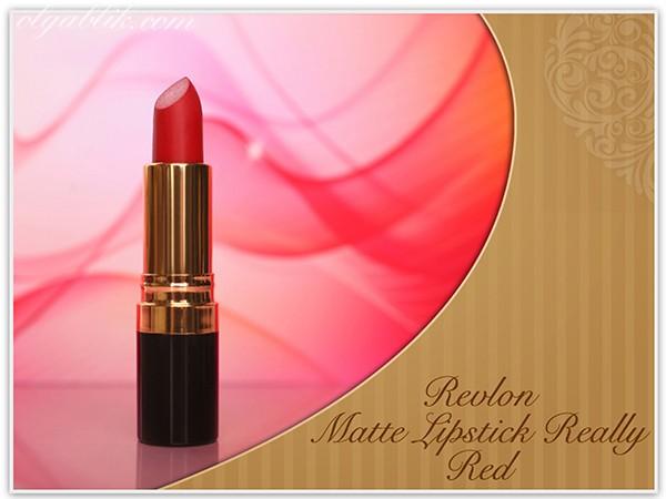 Матовая красная помада Revlon Matte Lipstick Really Red – отзывы