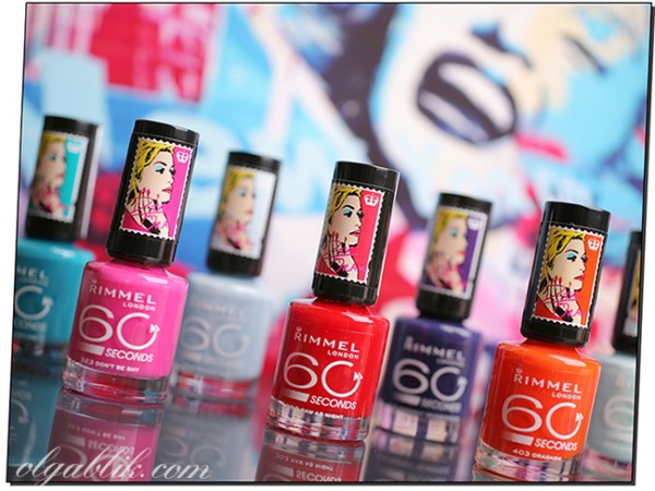 Лаки для ногтей: Rimmel 60 Seconds Rita Ora Nail Polish