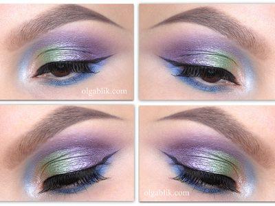 Как наносить фиолетовые тени на веки – пошаговый урок