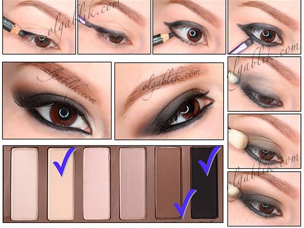 Макияж Smoky Eyes с Urban Decay Basics Palette Makeup Tutorial