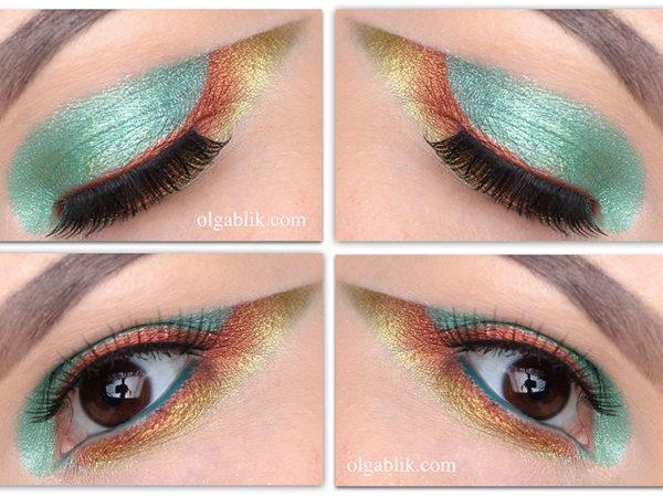 Макияж глаз с рассыпчатыми тенями  – пошаговая инструкция