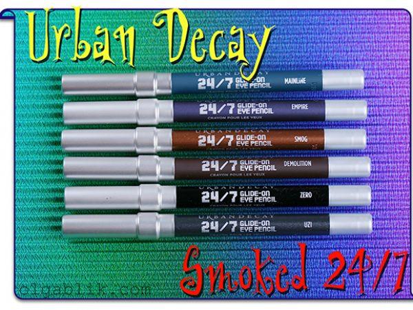 Набор карандашей Urban Decay Smoked 24/7 Glide On Eye Pencil Set
