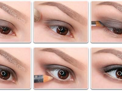 Как сделать макияж коричневыми тенями – пошаговый фото-урок