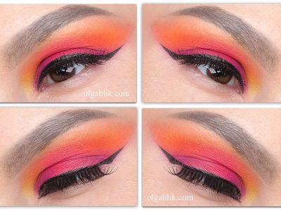 Как сделать розово-оранжевый макияж – пошаговый урок