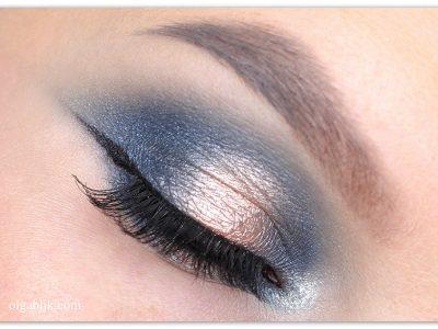 Сияющий зимний макияж глаз – пошаговая инструкция