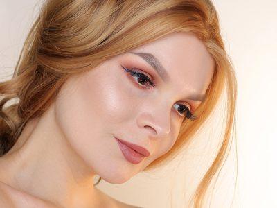Мерцающие тени для век Holika Holika: пошаговый макияж