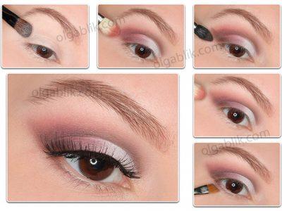Пошаговый макияж глаз для нависших век за 10 минут!