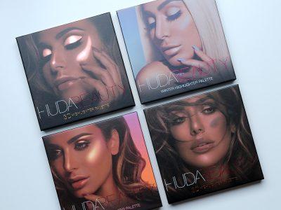 Huda Beauty 3D Highlighter palette – отзыв, свотчи, макияж