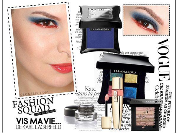 Пошаговый макияж c косметикой Illamasqua – схема нанесения