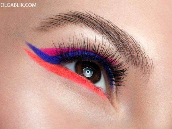 Как сделать неоновые стрелки на глазах