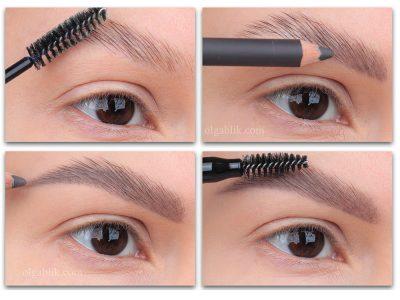 Как накрасить брови карандашом, если их нет: пошаговый фото-урок