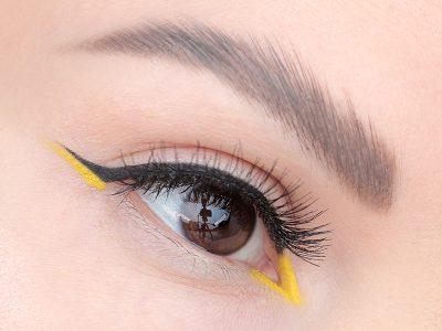 Как сделать макияж с цветными стрелками: фото-урок