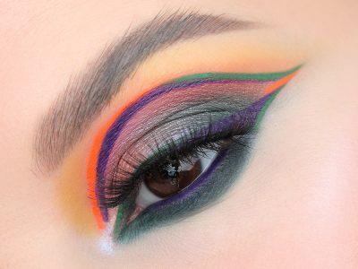 Креативные стрелки на глазах: макияж дня